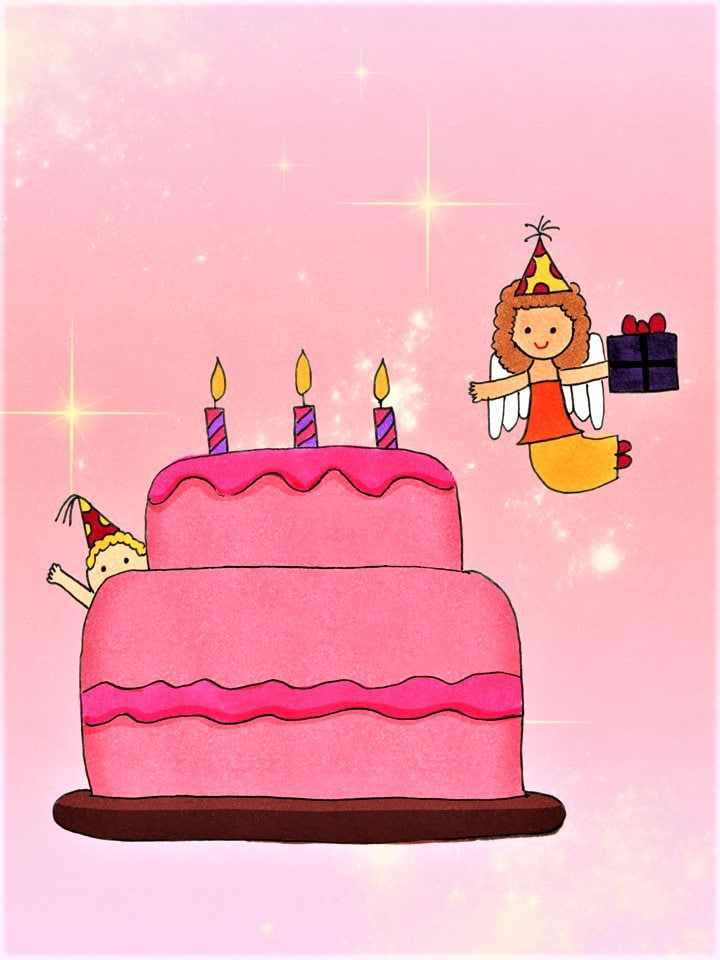 Angel Birthday Cake eCard