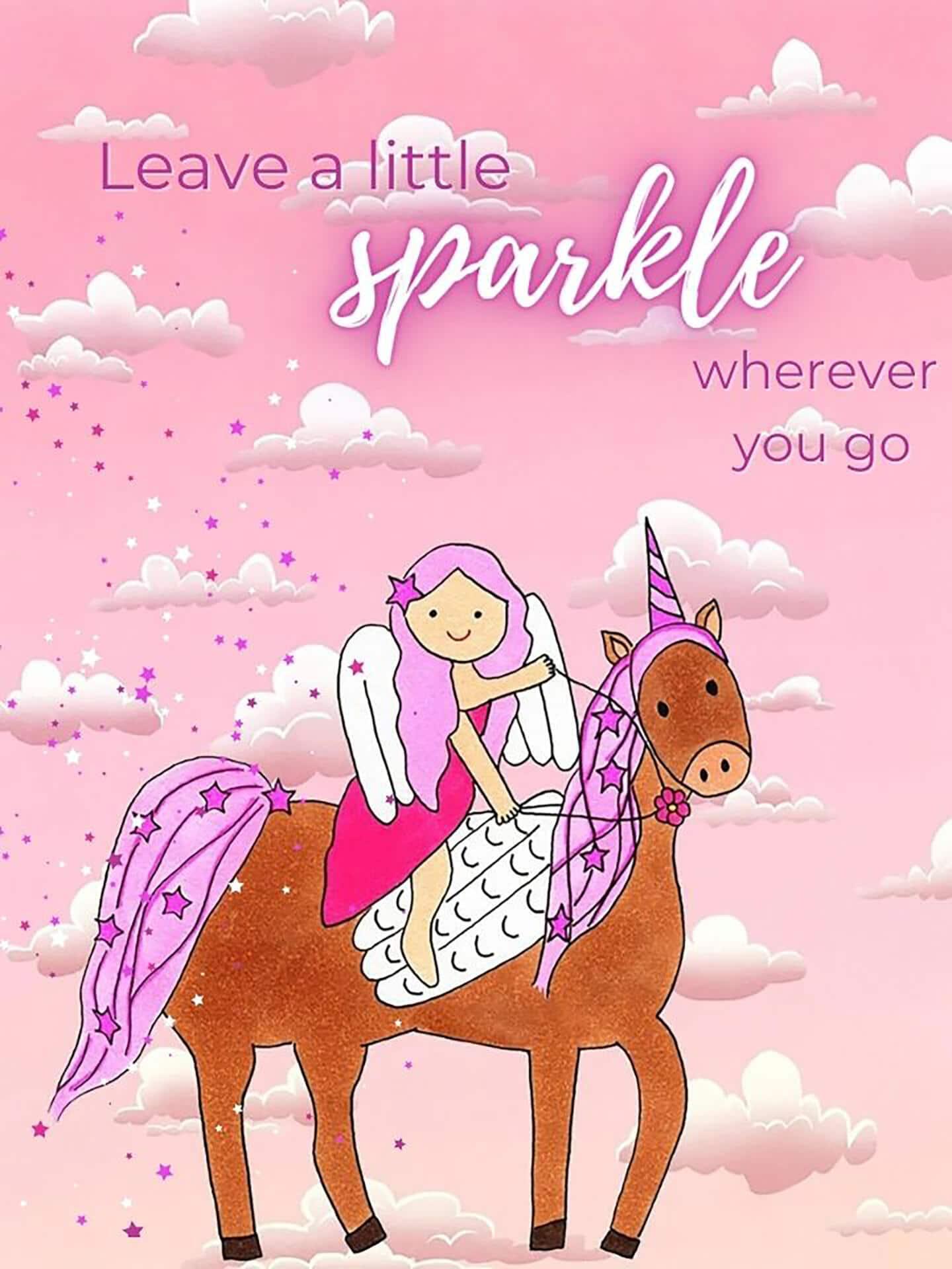 Princess & Unicorn Sparkles Card