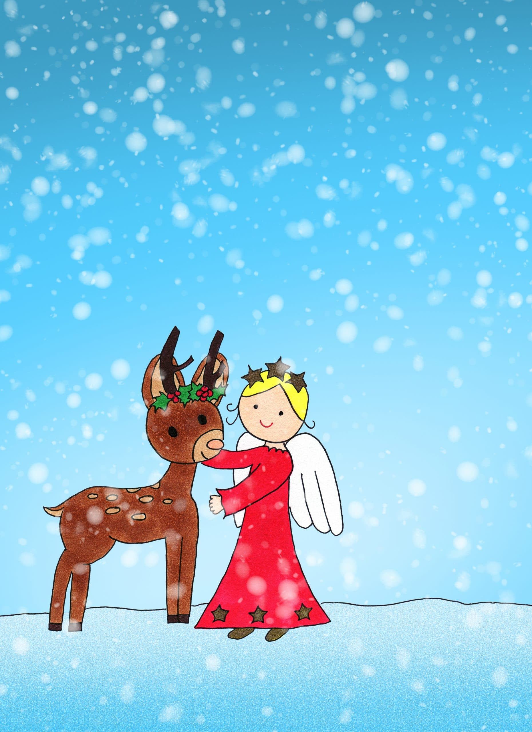 Angel Loves Reindeer eCard