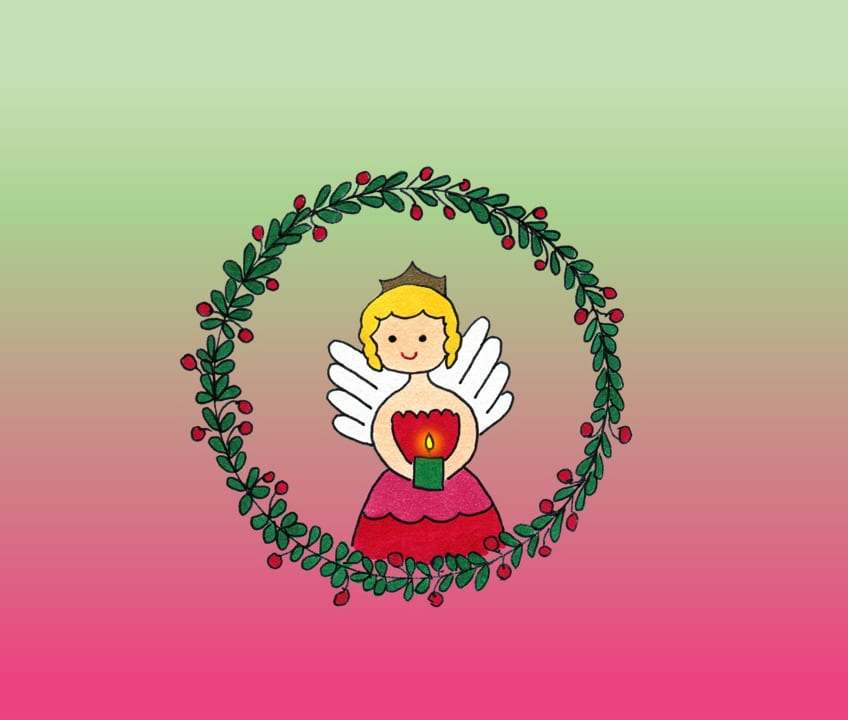 Angel Wreath eCard