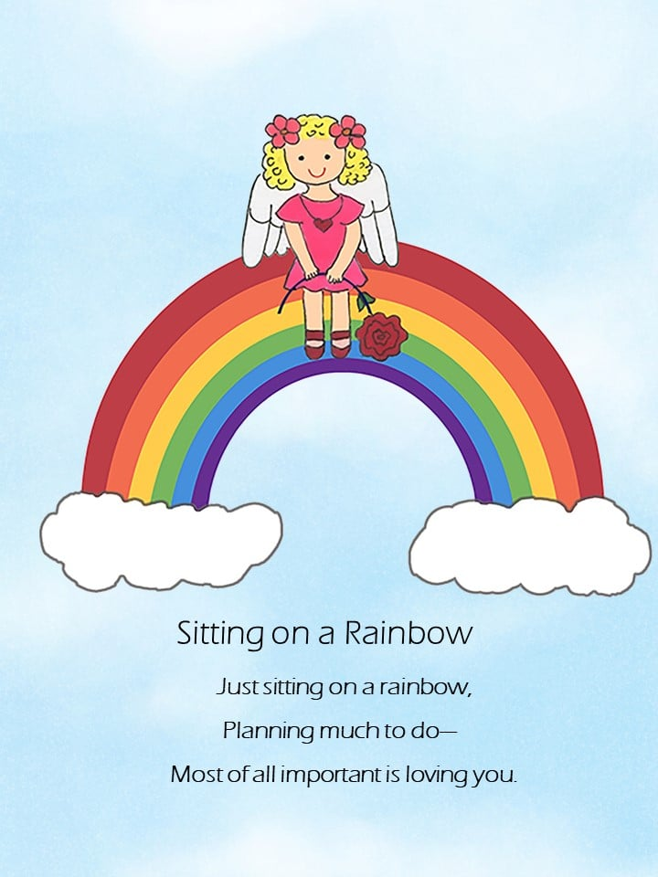 Sitting on a Rainbow eCard