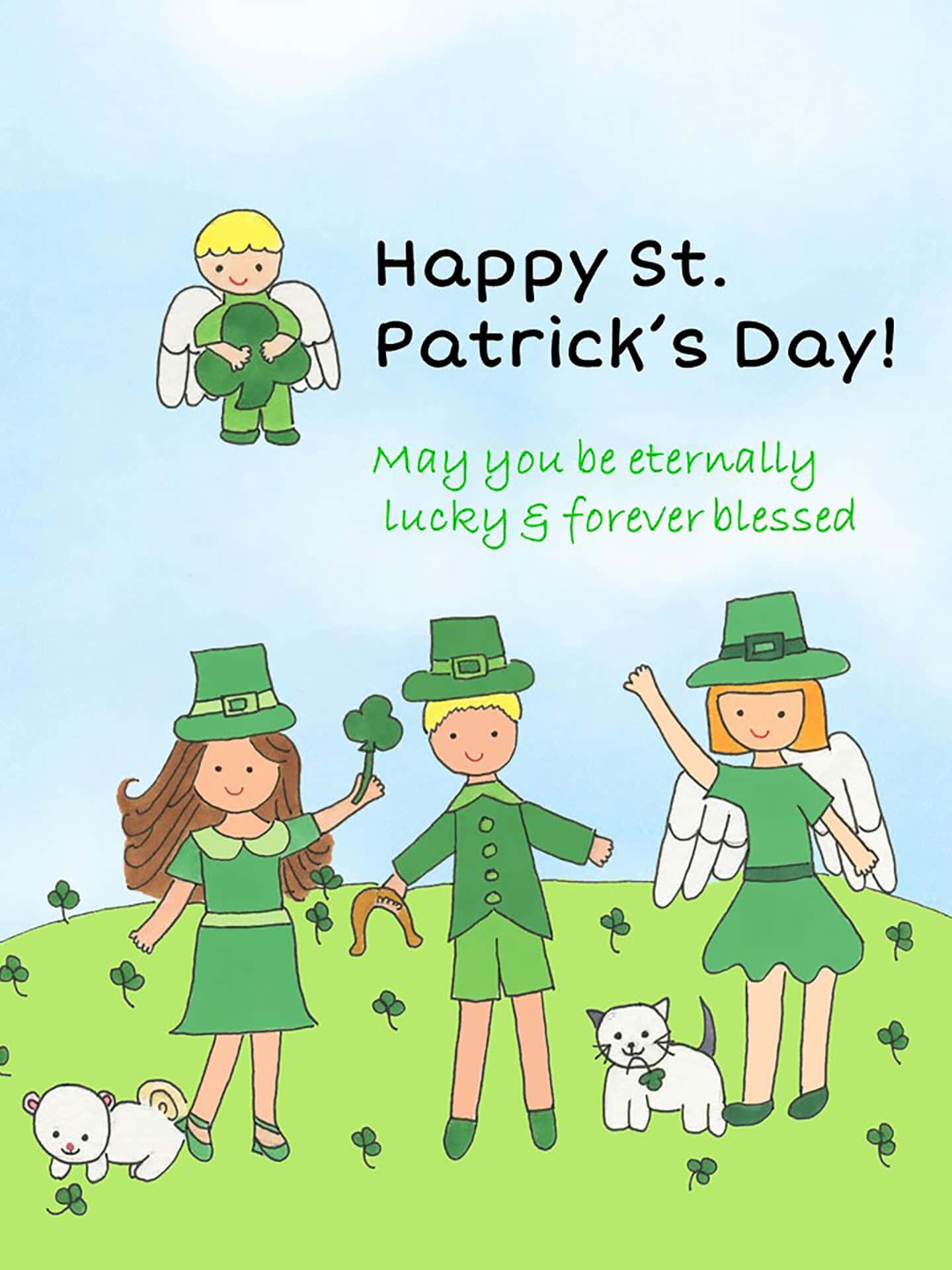 St. Patrick's Day Luck & Blessings eCard
