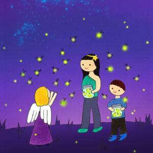 Chasing Fireflies eCard ; staycation playlist ideas