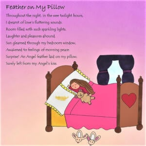Feather on My Pillow eCard ; staycation playlist ideas
